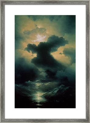 Chaos The Creation Framed Print by Ivan Konstantinovich Aivazovsky