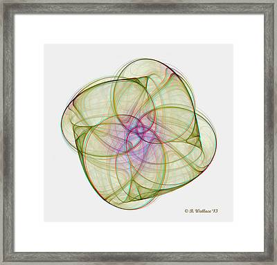 Chaoscope Abstract 3d Stereo - Use Red-cyan Filtered 3d Glasses Framed Print