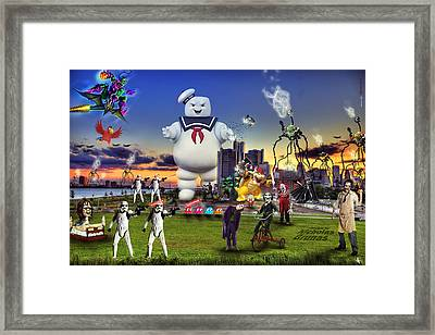 Chaotic Detroit Framed Print by A And N Art