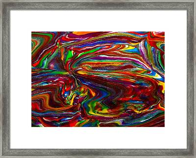 Chaotic Flow Framed Print