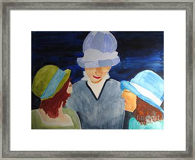 Framed Print featuring the painting Chapeaux Trois by Sandy McIntire