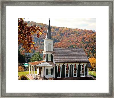 Chapel At Big Cedar Framed Print