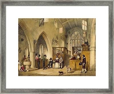 Chapel At Haddon Hall, Derbyshire Framed Print by Joseph Nash