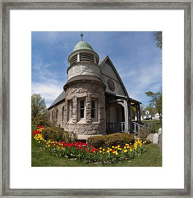 Chapel At Laurel Hill Cemetery Framed Print