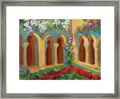 Chapel At St. Remy Framed Print by Diane McClary