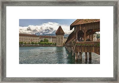 Chapel Bridge Lucerne Switzerland Framed Print