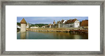Chapel Bridge, Luzern, Switzerland Framed Print by Panoramic Images