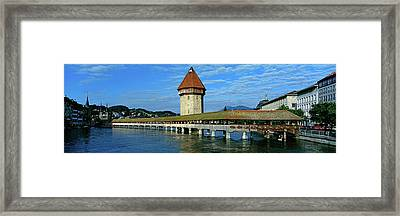 Chapel Bridge On The Reuss River Framed Print by Panoramic Images