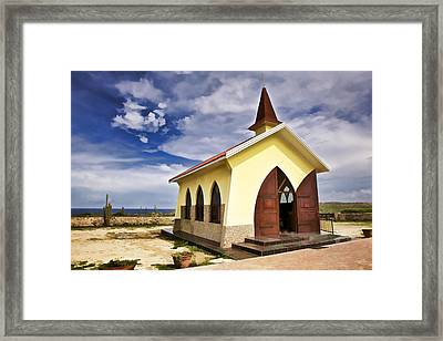 Chapel By The Sea Framed Print