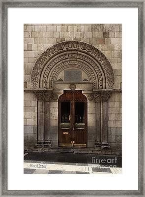Chapel Doorway - Leon Framed Print by Mary Machare