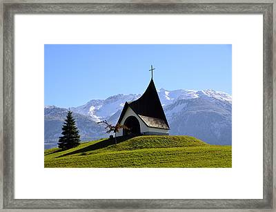 Chapel In The Alps Framed Print