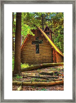 Chapel In The Pines Framed Print