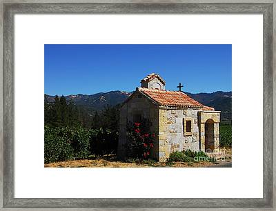 Chapel In The Vineyard Framed Print by Mel Steinhauer