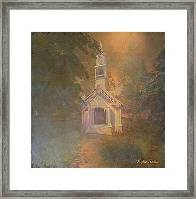 Chapel In The Wood Framed Print by Kylie Sabra