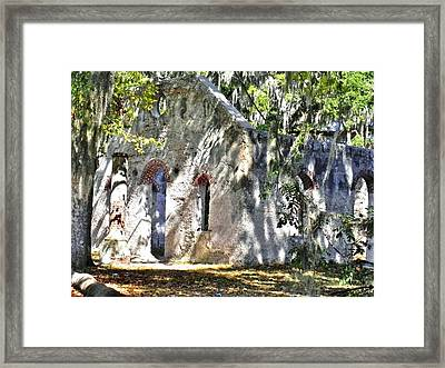 Chapel Of Ease Main Ruins Framed Print by Patricia Greer