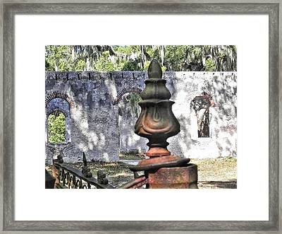 Chapel Of Ease St Helena Island Framed Print by Patricia Greer