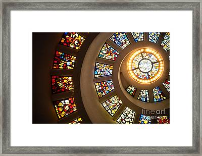 Chapel Of Thanksgiving Dallas Framed Print by Sonja Quintero