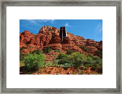 Framed Print featuring the photograph Chapel Of The Holy Cross by Dany Lison