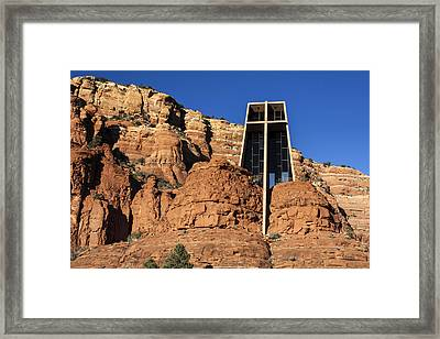 Chapel Of The Holy Cross Framed Print by Fred Larson