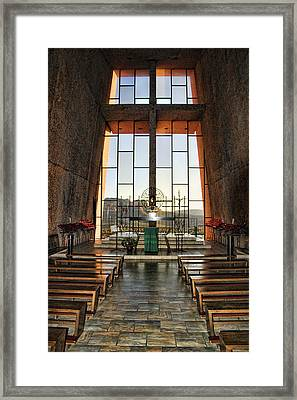 Chapel Of The Holy Cross Interior Framed Print