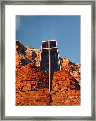 Chapel Of The Holy Cross Framed Print by Kathleen Struckle