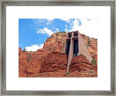 Chapel Of The Holy Cross Framed Print by Kelly Holm