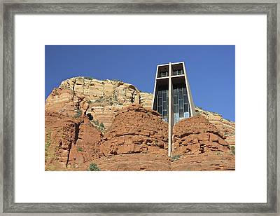 Framed Print featuring the photograph Chapel Of The Holy Cross by Penny Meyers