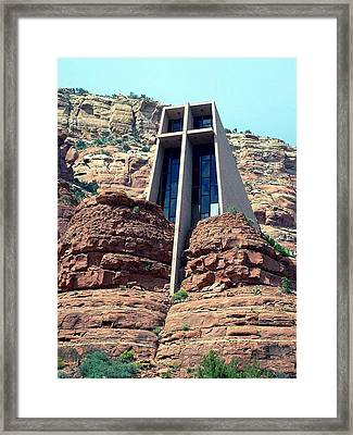 Chapel Of The Holy Cross Framed Print