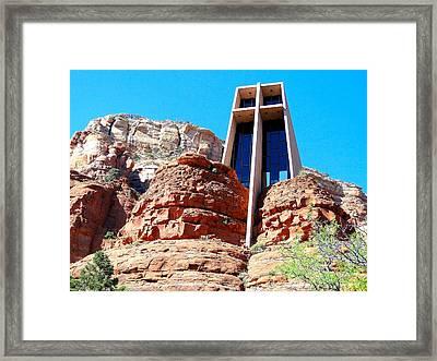 Chapel Of The Holy Cross Sedona Framed Print