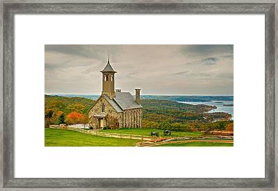 Chapel Of The Ozarks Framed Print
