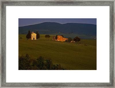 Chapel On A Hillside Framed Print by Andrew Soundarajan