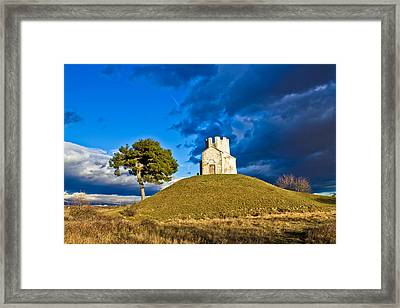 Chapel On Green Hill Nin Dalmatia Framed Print