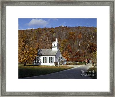 Chapel On The Green, Vermont Framed Print