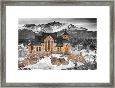 Chapel On The Rock Bwsc Framed Print