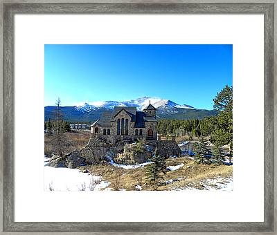 Chapel On The Rock Framed Print by Julie Palencia