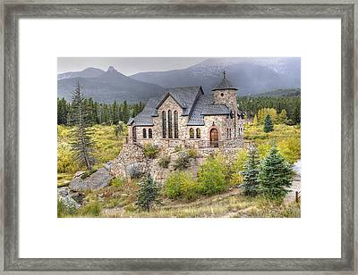 Chapel On The Rock - St Malo Center Framed Print by Geraldine Alexander