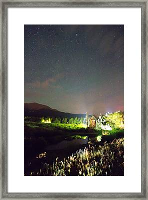 Chapel On The Rock Stary Night Portrait Framed Print by James BO  Insogna