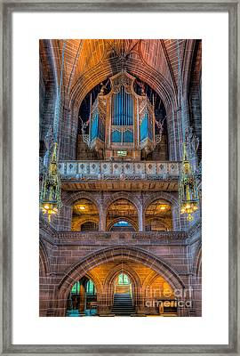 Chapel Organ Framed Print