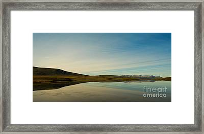 Chapman Lake Dempster Highway Framed Print
