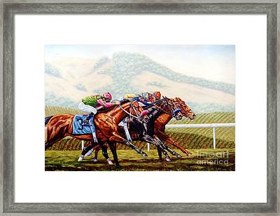Chapman Splits Them At The Wire Framed Print