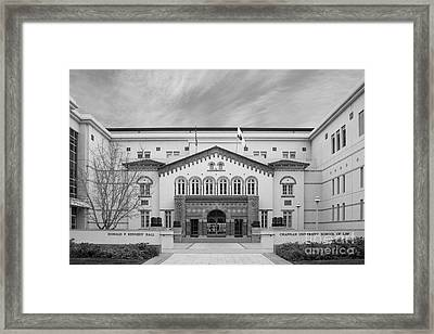 Chapman University Kennedy Hall Law School Framed Print by University Icons