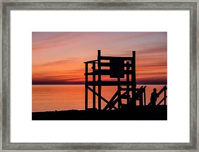 Chapoquoit Sunset Framed Print
