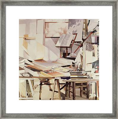 Chapter, 1990 Oil On Canvas Framed Print by Jeremy Annett