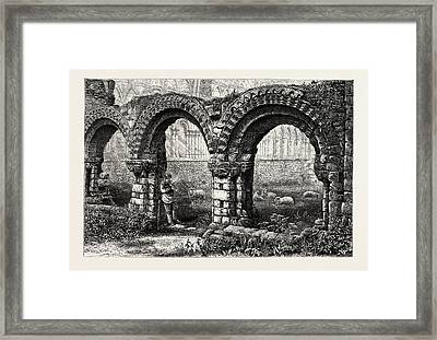 Chapter House, Much Wenlock Abbey, Abbey Framed Print