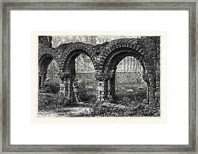 Chapter House, Much Wenlock Abbey, Uk, Britain Framed Print