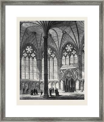 Chapter-house Of Westminster Abbey Lately Restored 1873 Framed Print