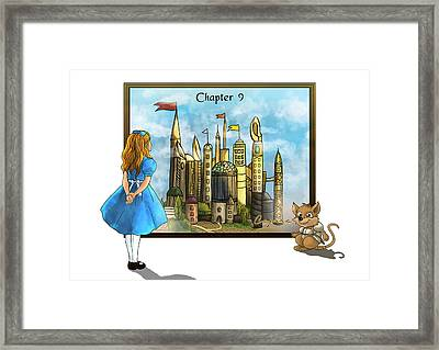 Framed Print featuring the painting Chapter Nine by Reynold Jay