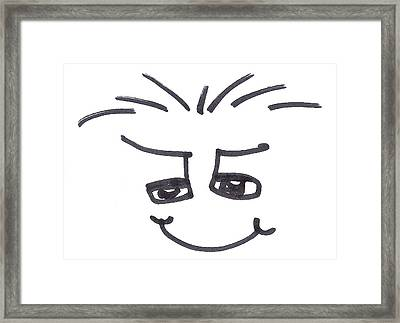 Character Creation - Maxib Framed Print by Brett Smith