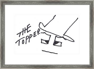 Character Creation - The Topper Framed Print by Brett Smith