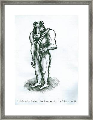 Character Sketch Framed Print by Richie Montgomery